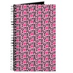 I Love Flute Music Journal Practice Notebook