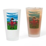 Red Arrow Pilot and Jet Drinking Glass