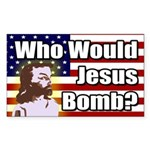 Who Would Jesus Bomb bumper sticker