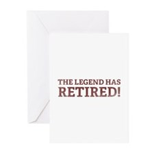 The Legend Has Retired! Greeting Cards (Pk of 10)