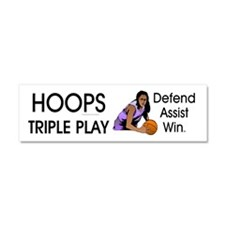 TOP Hoops Slogan Car Magnet 10 x 3