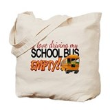 Bus Driver - Empty Bus Tote Bag