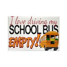 Bus Driver - Empty Bus Rectangle Magnet