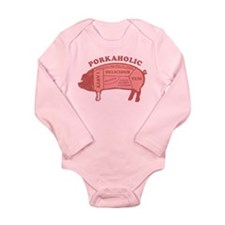 Porkaholic Long Sleeve Infant Bodysuit