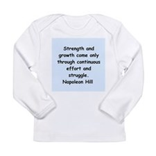 Napolean Hill quotes Long Sleeve Infant T-Shirt