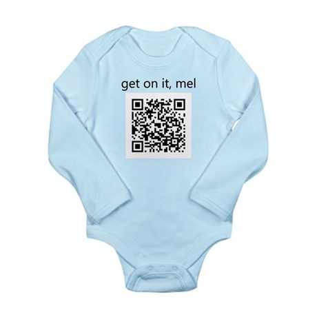 Get On It Mel Long Sleeve Infant Bodysuit