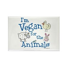 Vegan for Animals Rectangle Magnet