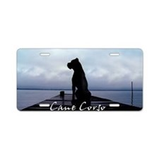 Unique Cane corsos Aluminum License Plate