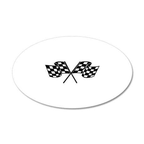 Racing Flags 22x14 Oval Wall Peel