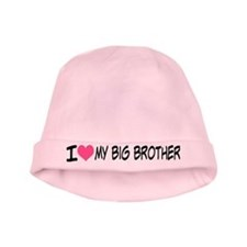 I Heart My Big Brother Baby Beanie Hat