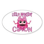 Little Monster Caitlin Sticker (Oval)