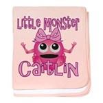 Little Monster Caitlin baby blanket