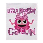 Little Monster Caitlin Throw Blanket