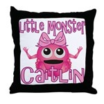 Little Monster Caitlin Throw Pillow