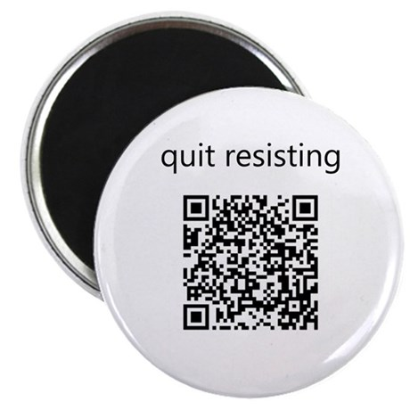 "Quit Resisting 2.25"" Magnet (10 pack)"