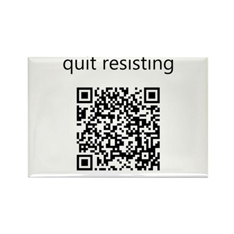 Quit Resisting Rectangle Magnet