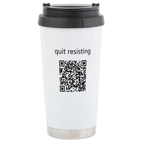 Quit Resisting Ceramic Travel Mug