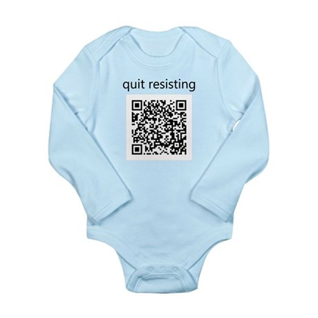 Quit Resisting Long Sleeve Infant Bodysuit