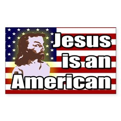Jesus is an American bumper sticker