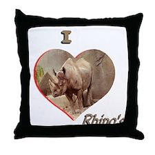 I Love Rhino's Throw Pillow