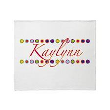 Kaylynn with Flowers Throw Blanket