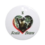 I Love Koala's Ornament (Round)