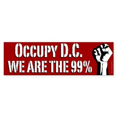 Occupy D.C. activist bumper sticker
