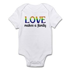 Love Makes A Family Infant Creeper