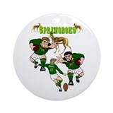 Springboks Rugby Team Ornament (Round)