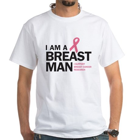 Breast Man White T-Shirt