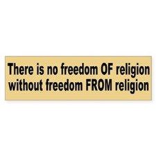 freedom of religion... Bumper Car Sticker