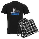 Siberian husky Men's Pajamas Dark