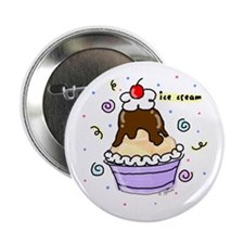 Hot Fudge Sundae Ice Cream Button