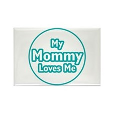 Mommy Loves Me Rectangle Magnet (100 pack)