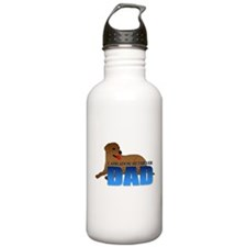 Chocolate Labrador Retriever Dad Water Bottle