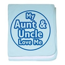Aunt and Uncle Love Me baby blanket