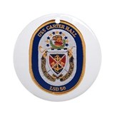 USS Carter Hall LSD 50 Ornament (Round)