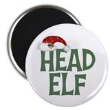Head Elf Magnet