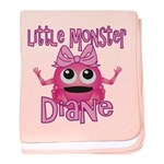 Little Monster Diane baby blanket