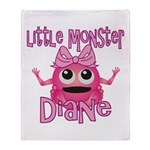 Little Monster Diane Throw Blanket