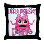 Little Monster Diane Throw Pillow