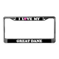 Great Dane License Plate Frames