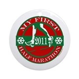 My First Half Marathon - 2011 Ornament (Round)