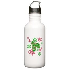 Running Shoes & Snowflakes Water Bottle