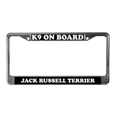 On Board Jack Russell Terrier License Plate Frame