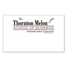 Melon School of Business Rectangle Stickers
