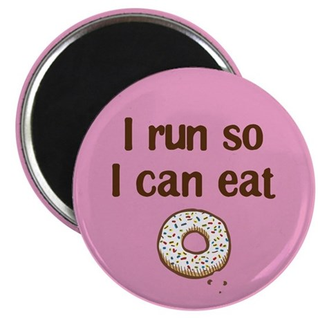 Run to Eat Donuts Magnet