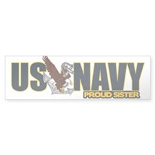 Navy Sister Sticker (Bumper)