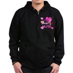 OYOOS Sweetie Pie design Zip Hoodie (dark)