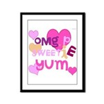 OYOOS Sweetie Pie design Framed Panel Print
